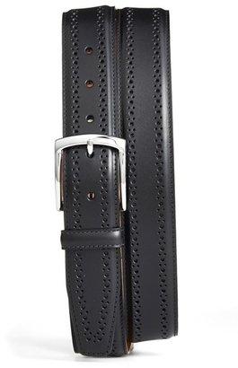 Men's Allen Edmonds Manistee Brogue Leather Belt $120 thestylecure.com