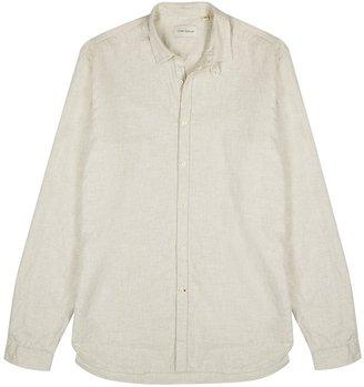 Oliver Spencer Clerkenwell Oatmeal Brushed Cotton Shirt