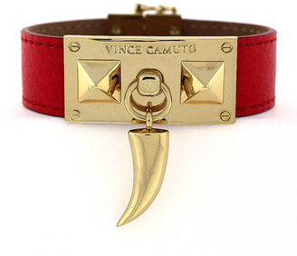 Vince Camuto Leather & Gold-Tone Horn Bracelet