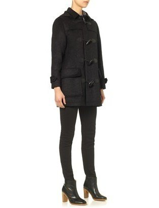 A.P.C. Anthracite Wool Duffle Coat