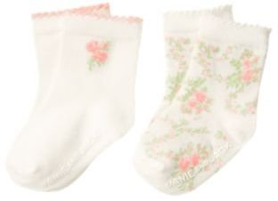Janie and Jack Rose Blossom Sock Two-Pack