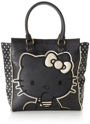 Hello Kitty Emboss Stripe Double Handle Bag Travel Tote