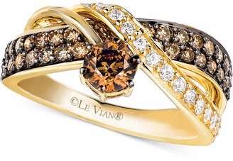 Le Vian Chocolate and White Diamond Crossover Ring in 14k Gold (1-1/4 ct. t.w.) $4,300 thestylecure.com