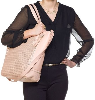 JLO by Jennifer Lopez lisbeth perforated convertible tote