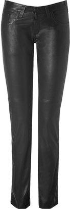 Joseph Black Leather Pants