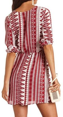 Charlotte Russe Printed Woven Shift Dress