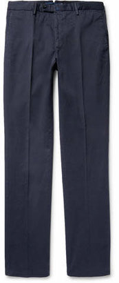 Incotex Four Season Relaxed-fit Cotton-blend Chinos - Blue