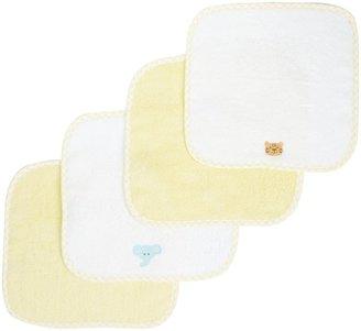 SpaSilk Woven Washcloth Set - Yellow - 4 ct