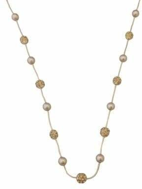 Cezanne Pearl And Fireball Station Necklace