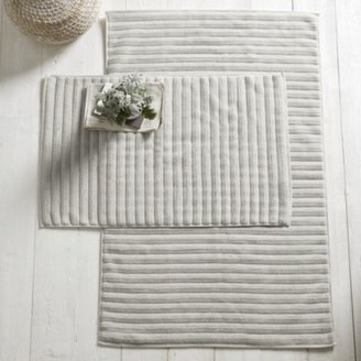 The White Company Hydrocotton Bath Mat. Medium. Grey