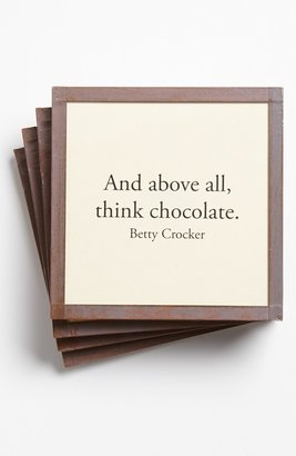 Ben's Garden 'And Above All, Think Chocolate' Coaster Set Ivory One Size