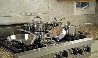 T-Fal Ultimate Copper Bottom Cookware Set 12pc, Stainless Steel
