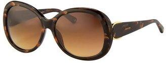 Oscar de la Renta Tiger Horn Sunglasses