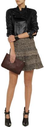 Herve Leger Animal-print bandage skirt