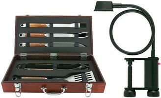 Mr. Bar-B-Q 5-pc. wood tool set & grill light