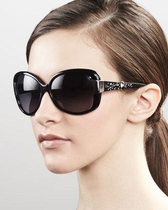 Christian Dior Midnight Crystal Sunglasses, Black