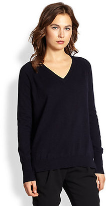 Vince Silk-Back Wool & Cashmere Sweater