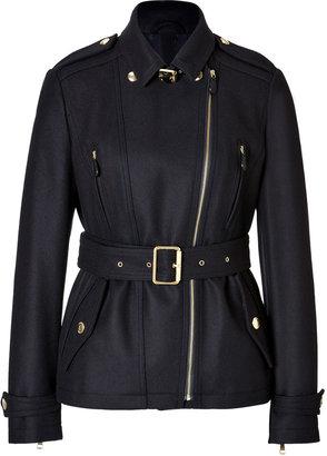 Burberry Wool Blend Doddinghurst Jacket in Navy