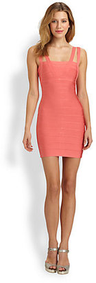 Herve Leger Strappy Bandage Dress