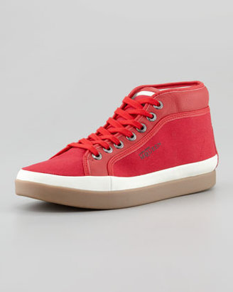 Puma Rabble Mid-Top Canvas Sneaker, Red
