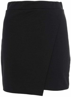 Quiz Black Wrap Short Skirt