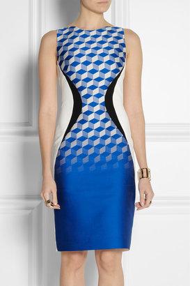 Antonio Berardi Paneled crepe and jacquard dress