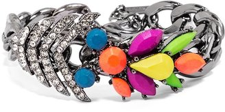 BaubleBar Rainbow Fishtail Curb Bracelet