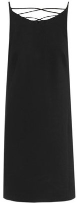 Versace Cross strap back detail dress