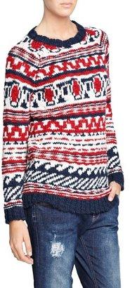 MANGO Outlet Fair Isle Alpaca Wool-Blend Sweater