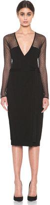 Diane von Furstenberg Zalda Bis Lace Dress in Black