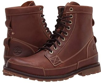Timberland Earthkeepers(r) Rugged Original Leather 6 Boot (Medium Brown Nubuck) Men's Lace-up Boots