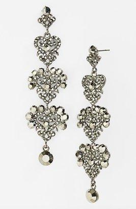 Tasha Ornate Crystal Linear Drop Earrings