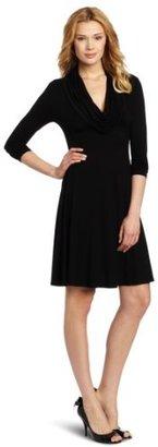 Karen Kane Women's Long Sleeve Drape Neck Dress