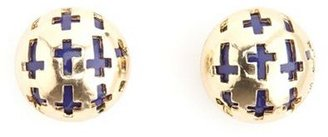 Charlotte Russe Dome Cross Stud Earring