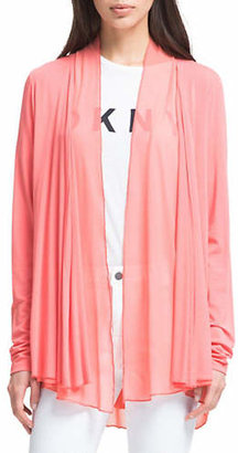 DKNY Long-Sleeve Drape Front Cardigan