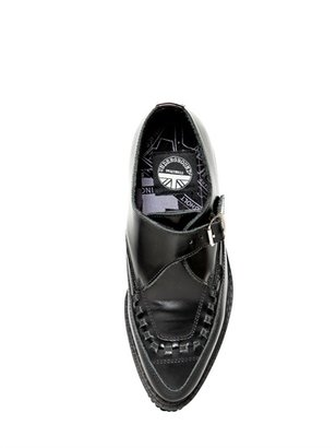 Underground Apollo Smooth Leather Monk Shoes