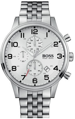 HUGO BOSS Chronograph Stainless Steel Bracelet Watch, 44mm