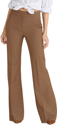 Veronica Beard Lebone Check Flare-Leg Pants