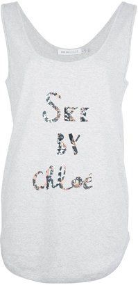 See by Chloe long logo vest