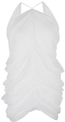 J.W.Anderson White Silk Mermaid Drape Top