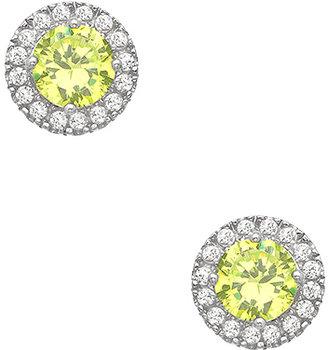 Swarovski J Weber Green Crystal Sparkler Stud Earrings
