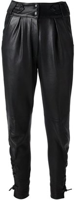 Yves Saint Laurent Vintage leather trousers