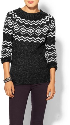 Juicy Couture Press Fair Isle Sweater
