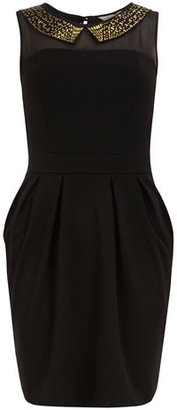 Dorothy Perkins Studded collar lampshade dress