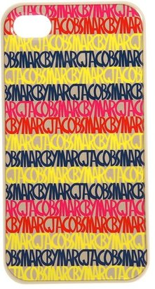 Marc by Marc Jacobs Linear Logo Phone Case (Chinchilla Multi) - Bags and Luggage