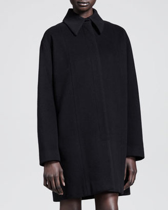 The Row Long Rounded-Shoulder Coat