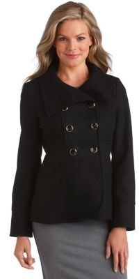 Kenneth Cole Reaction Military Funnel Collar Coat