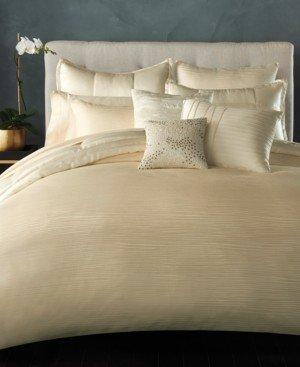 Donna Karan Home Reflection Ivory King Quilt Bedding