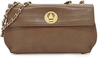 Moschino Borsa Faux-Leather Crossbody Bag, Taupe