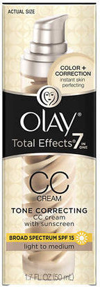 Olay Total Effects CC Cream, Tone Correcting Moisturizer with Sunscreen, Light to Medium